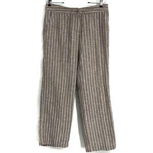 Tommy Bahama Wide Leg Stripe Linen Womens Pants
